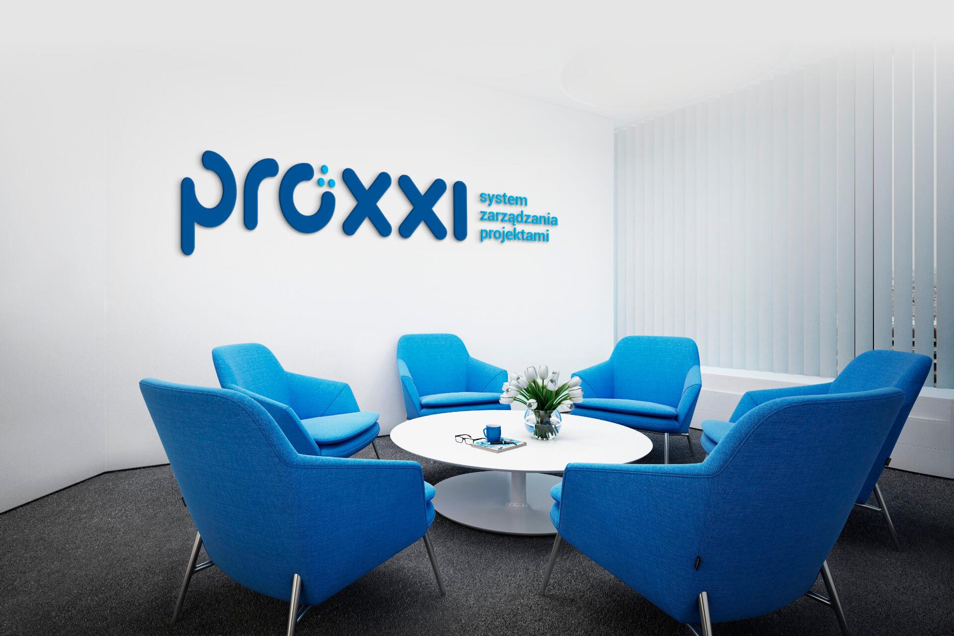 Proxxi - wizualizacja wnętrza biura